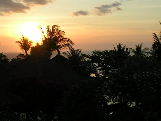 バリの夕陽